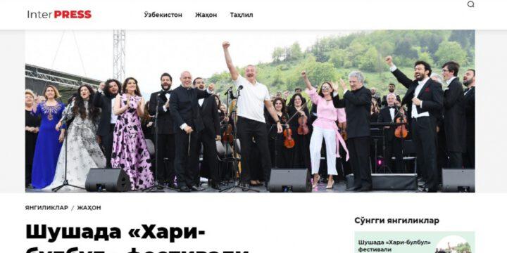 """Özbəkistan portalları """"Xarıbülbül"""" musiqi festivalından yazır"""