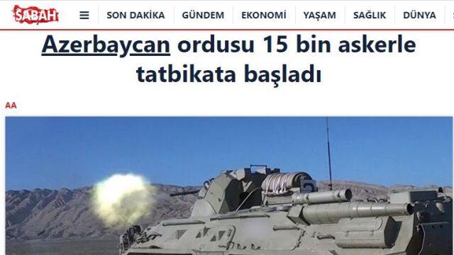Türkiyə mediası Azərbaycan Ordusunun hərbi təlimlərini geniş işıqlandırır