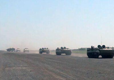 Raket və artilleriya bölmələri təyin edilmiş marşrutlarla hərəkət edir (VİDEO)