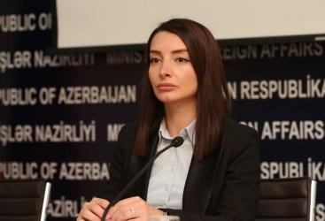 Leyla Abdullayeva: Ermənistan XİN-in Azərbaycan dövlət başçısının müsahibələrini, çıxışlarını düzgün anlaması və nəticə çıxarması lazımdır