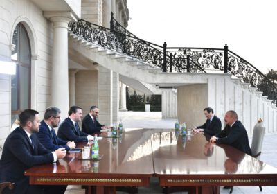 Prezident İlham Əliyev Serbiyanın xarici işlər nazirinin başçılıq etdiyi nümayəndə heyətini qəbul edib